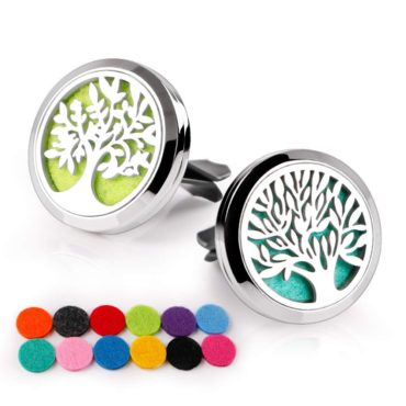 Portable Stainless Steel Car Vent Essential Oil Diffuser (The Tree)