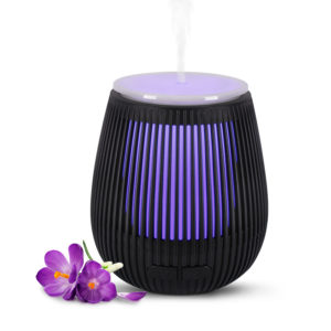 USB Ultrasonic Aroma Diffuser Stripe - Black (100ml)